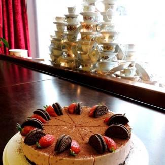 Lia Virkuse tordiraamatu esitluse tort
